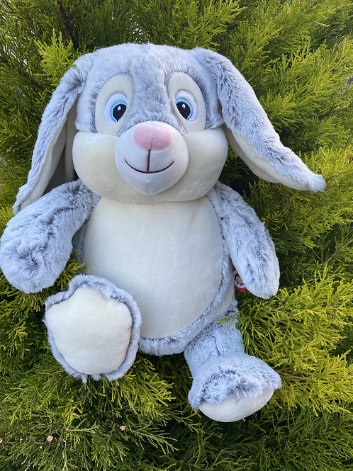 Personalised Grey Cubbie Bunny