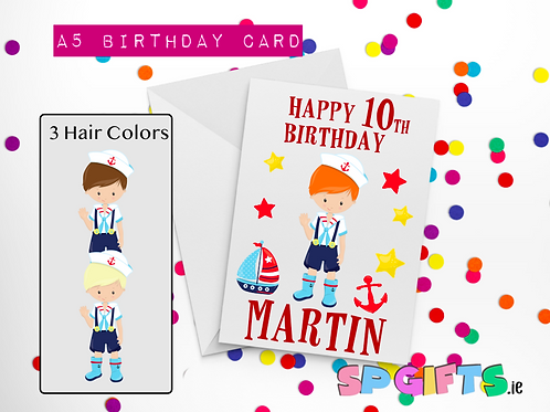 Sailor Boy Birthday Card