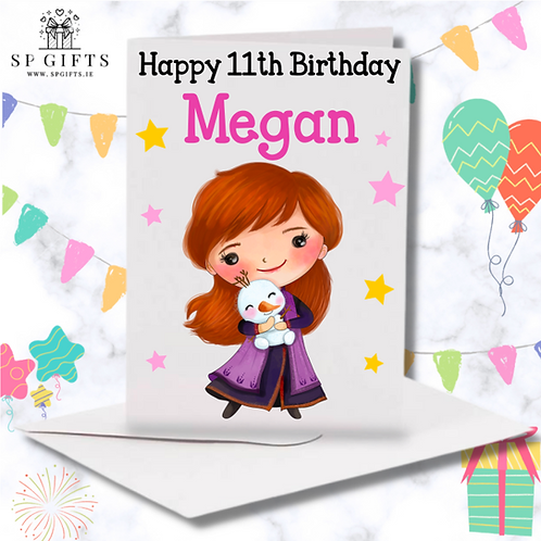 Princess A Birthday Card