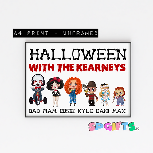 Personalised Character Family  Halloween print