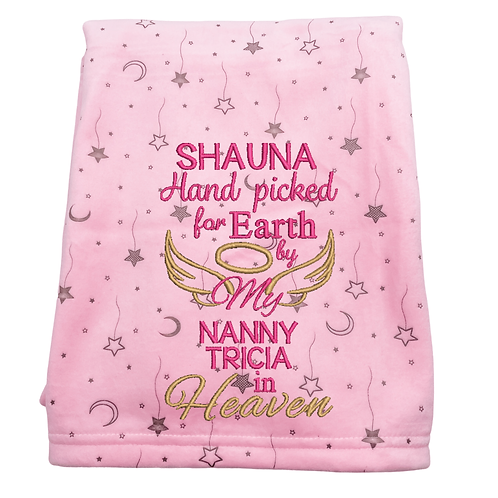 Hand Picked for Earth Luxury Personalised Pink Mink Blanket