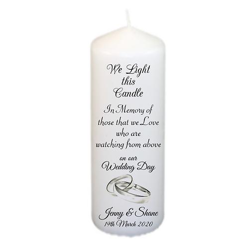 Rings Memorial Candle