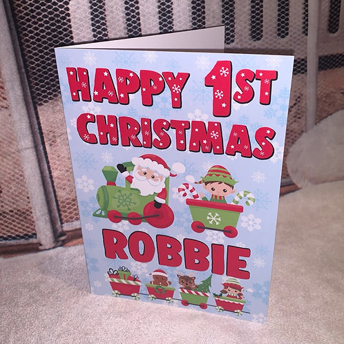 Baby First Chrsitmas Card