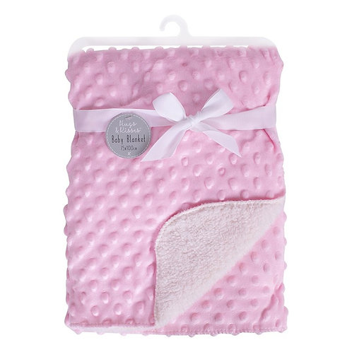 Bubble Mink Sherpa Baby Blanket - Pink