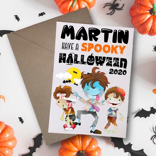 Halloween Card - Spooky Zombie