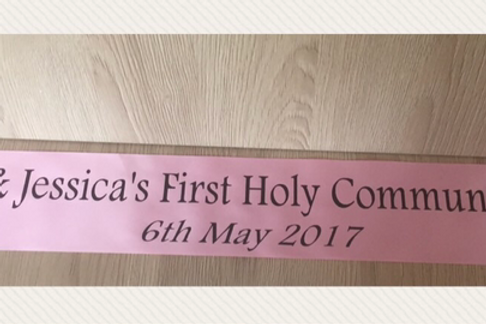 3 x Christening / Communion / Confirmation Banners