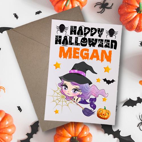 Mermaid B Halloween Card