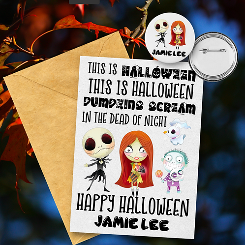 This is Hallowen Card & Badge