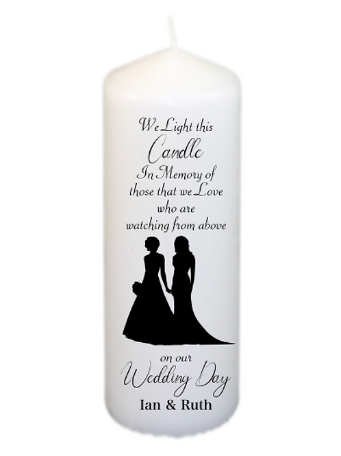 Silhouette Couple 202 Memorial Candle