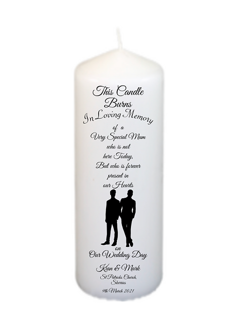 Silhouette Couple 205 Memorial Candle