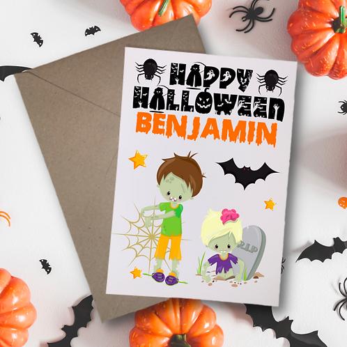Zombies Halloween Card