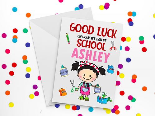 First Day of School Card F
