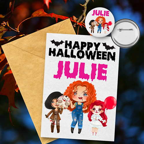 Horror Princess Card & Badge Set