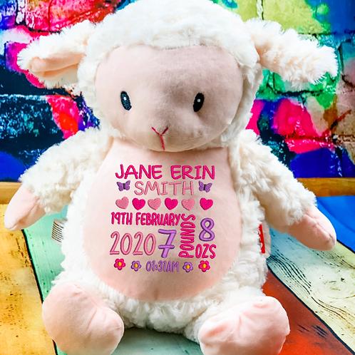 Baby Birth Block Cubbie -Lamb