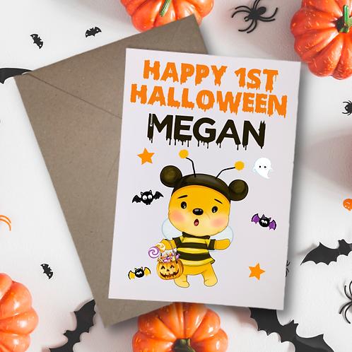 Baby Bear My 1st Halloween Card