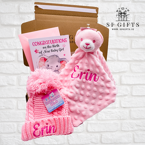 Pink - FREE HAT - Dimple Bear Comforter Delivery Box