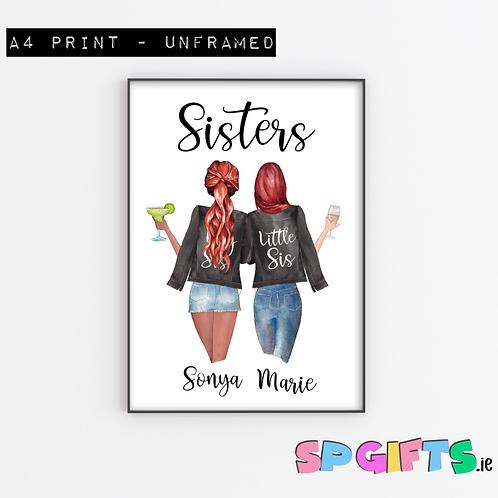 Sisters Print - A4 Print