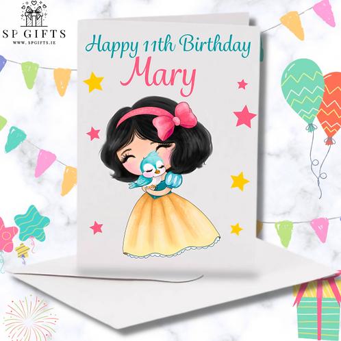 Princess I Birthday Card