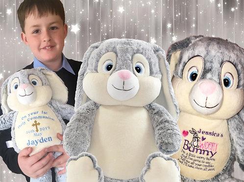 Personalised Easter Grey Clovis Hampton Bunny