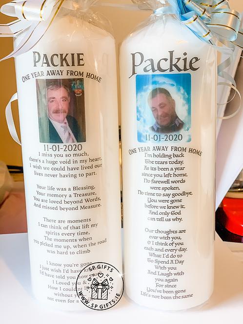 Custom Photo Memorial Candle
