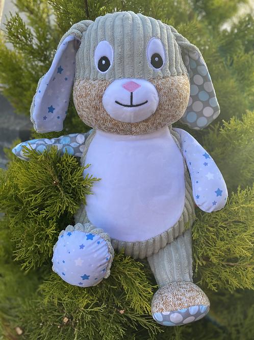 Personalised Blue Stary Night Sensory Bunny
