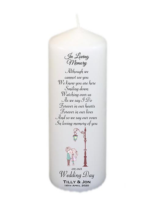Lamp post of love Memorial Candle