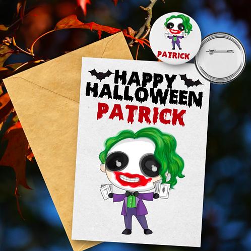 Joker Card & Badge Set