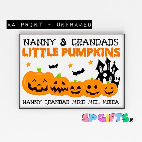Little Pumpkins Family Halloween print