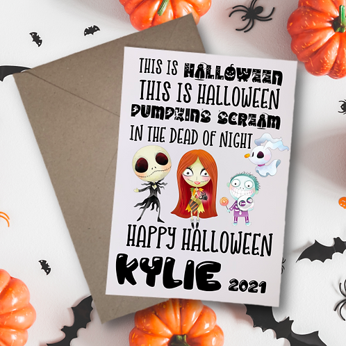 This is Halloween Nightmare Card