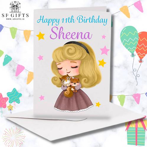 Princess E Birthday Card