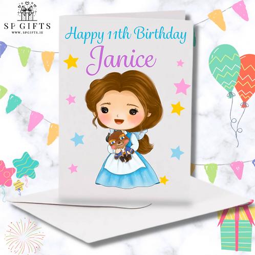 Princess N Birthday Card
