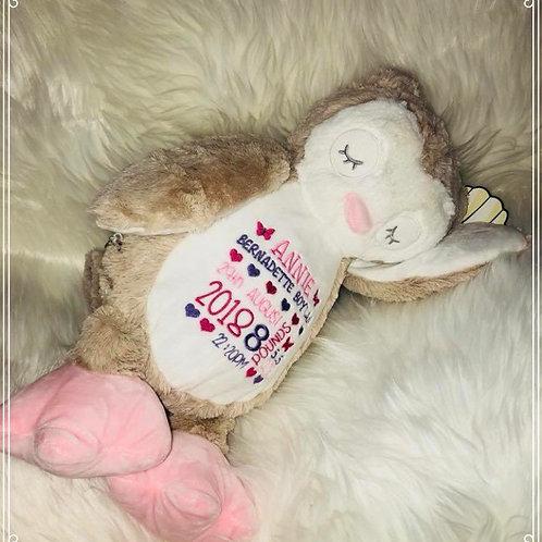 New Baby Birth Block Mumble - Owl