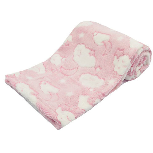 Personalised Cloud Blanket - Pink