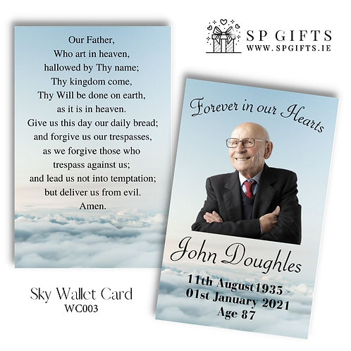 Sky Design - Wallet Memorial Cards