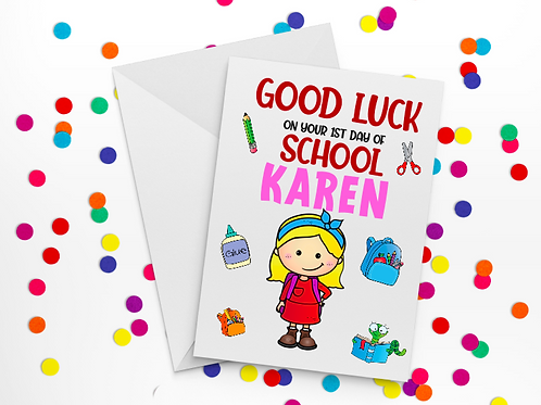First Day of School Card H