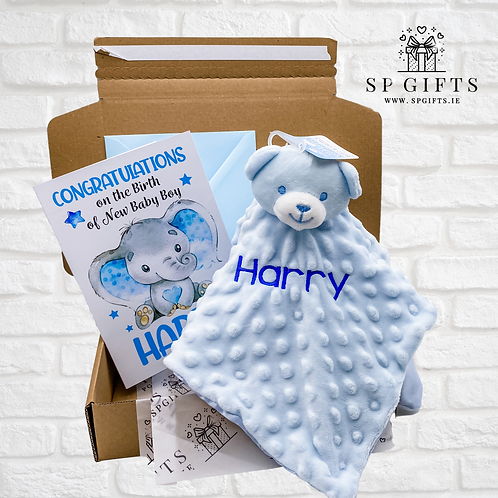 Blue - Dimple Bear Comforter Delivery Box