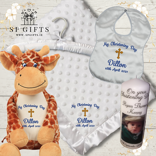 The Giraffe Deluxe Dimple Satin Trim Christening Delivery Box