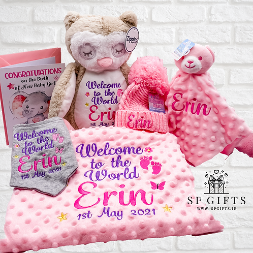 Welcome to the world - Delivery Box - Blue or Pink - 5 Teddies Available