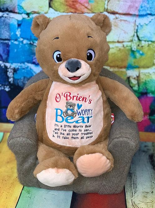 Personalised Worry Baby Bear Teddy