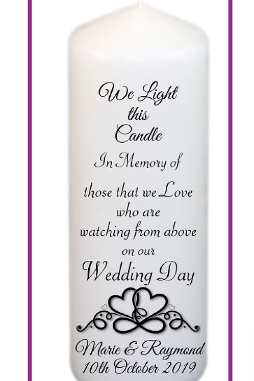 Infinity Hearts Memorial Candle