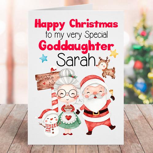 Christmas Goddaughter Card