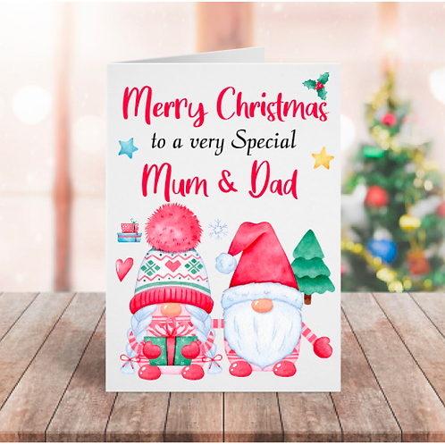 Personalised Christmas Gnome Card