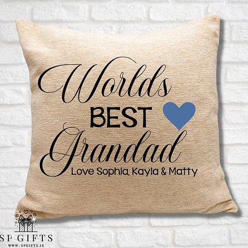 Worlds Best Grandad Cushion