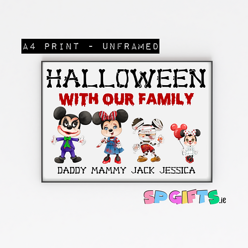 Personalised Mouse Family Halloween print