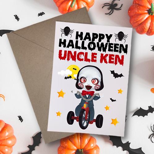 Billy the Puppet Halloween Card