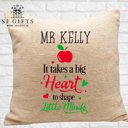 It takes a big Heart Teacher Luxury Cushion
