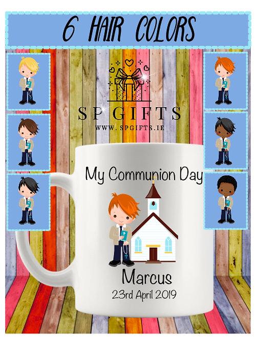 Personalised Boys Communion Mug