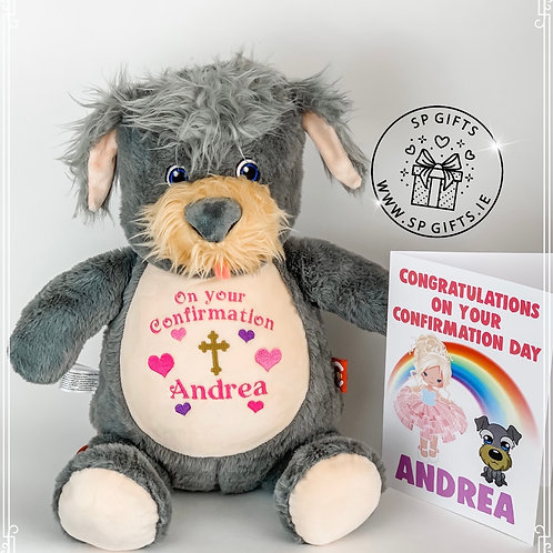 NEW - Communion/Confirmation Terrier & Card