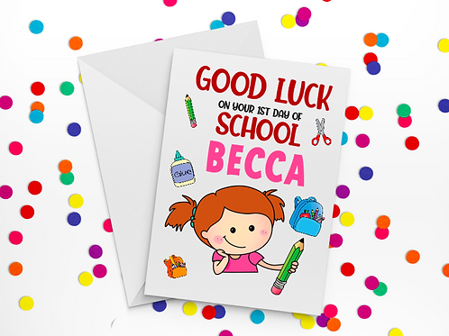 First Day of School Card I