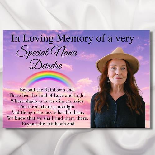 Beyond The Rainbows End Memorial A4 Print